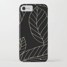 Black Leaves Slim Case iPhone 7