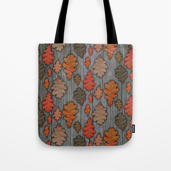 Patterns of Nature - Autumn Oak Leaves Tote Bag