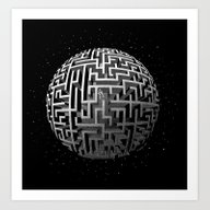 Art Print featuring Lost In Space by Victor Calahan