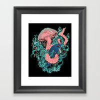 Jelly Vs. Beta Framed Art Print