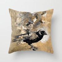 crow's soul Throw Pillow