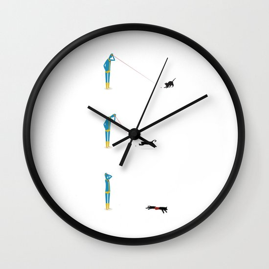 Cyclops' Cat Wall Clock