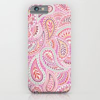 iPhone & iPod Case featuring Pink Paisley by Janet Broxon