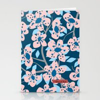 cherry blossom Stationery Cards featuring Cherry Blossom by Alannah Brid