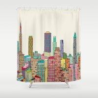 New York Modern  Shower Curtain