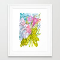 Mardi Gras Bouquet Framed Art Print