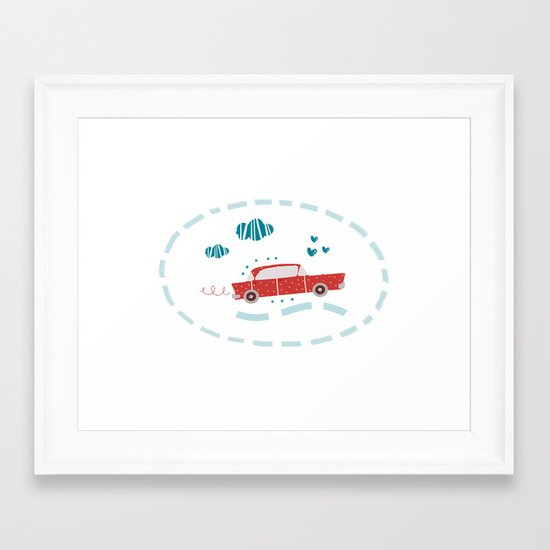 A ride Framed Art Print