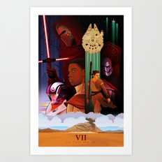 The Force Awakens Poster Art Print