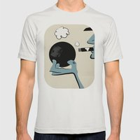 Bowling And Cigars At Th… Mens Fitted Tee Silver SMALL
