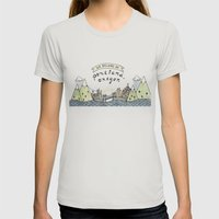 We Belong in Portland Womens Fitted Tee Silver SMALL