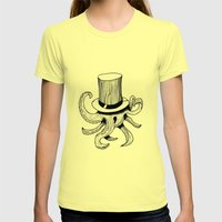 Squid is lost in hat Womens Fitted Tee Lemon SMALL