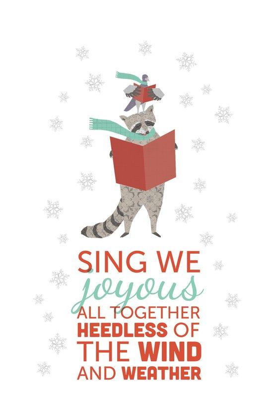 Raccoon & Pigeon Holiday! Art Print