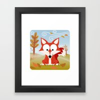 Woodland Animals Series II. Fox Framed Art Print