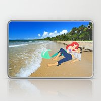 The Little Mermaid Ariel and Eric on the Beach Laptop & iPad Skin