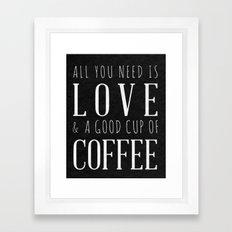 Love and Coffee Framed Art Print