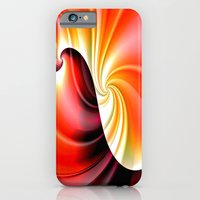 iPhone Cases featuring Part of a Wave (red-gold) by NatalieCatLee
