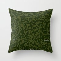 Comp Camouflage / Green Throw Pillow