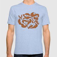 Fox Tail Maze Mens Fitted Tee Athletic Blue SMALL