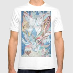 Spring blues Mens Fitted Tee SMALL White