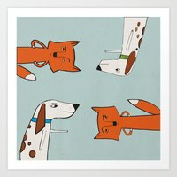 The Fox And The Hound Lo… Art Print