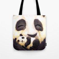 Cuddly panda Tote Bag