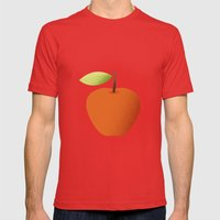 Apple 05 Mens Fitted Tee Red SMALL