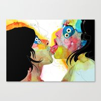 Kiss 03 Canvas Print