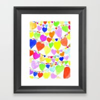 garlands of hearts  Framed Art Print