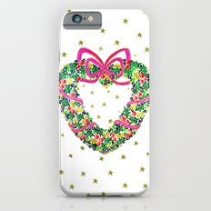 Xmas Heart Wreath iPhone 6 Slim Case