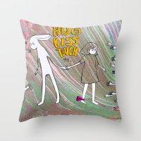 Hug, Kiss, Touch Me Throw Pillow