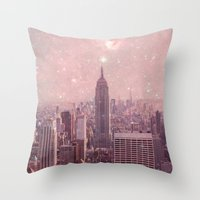 Stardust Covering New Yo… Throw Pillow