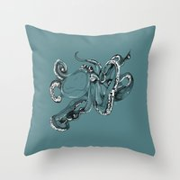 Octopoda Throw Pillow
