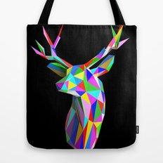 3D Stag Black Background Tote Bag