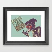 Fuck, I Am A Hipster! Framed Art Print