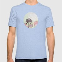 Inflorescence Mens Fitted Tee Tri-Blue SMALL