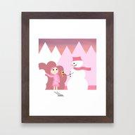 Fantasy Ice Cream Framed Art Print