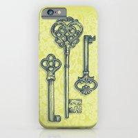 iPhone & iPod Case featuring Three Skeleton Keys by Rachel Caldwell