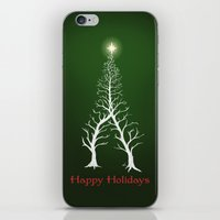 Christmas Tree Intertwined - painting iPhone & iPod Skin