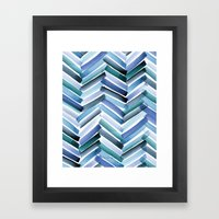 Cycladic Chevron Framed Art Print