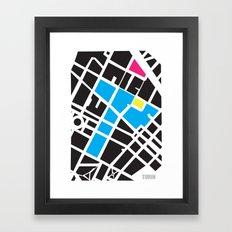 City Map Turin Framed Art Print