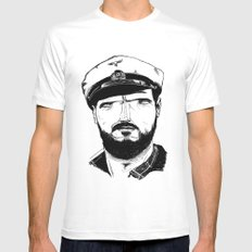 Das boot Mens Fitted Tee SMALL White