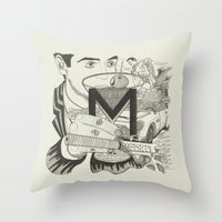 M is for Martini Throw Pillow