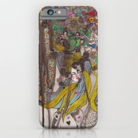 iPhone & iPod Case featuring Alice in Wonderland - Strange Dreams / Original A4 Illustration / Ink & Watercolor by Zhou