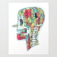 Illustrator to the Bone Art Print