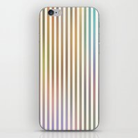 Striped Pattern in Pastel Colors iPhone & iPod Skin