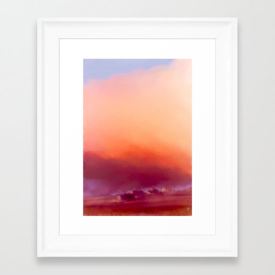 Winter-sun, in Iceland, Seltjarnarnes. Framed Art Print