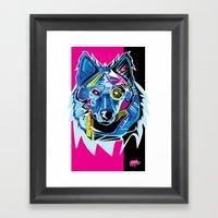 Lazer Wolf Framed Art Print