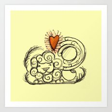 Love is in the air - 3 Art Print