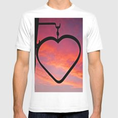 Love Sunset Mens Fitted Tee White SMALL