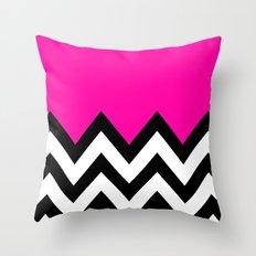 PINK COLORBLOCK CHEVRON Throw Pillow